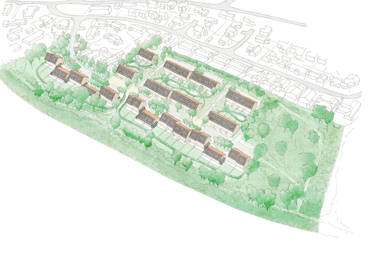 Nailsea North Somerset Council Passivhaus development
